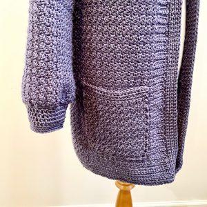 Saturday Morning Cardigan crochet pattern by Little Monkeys Designs - cardigan with pockets