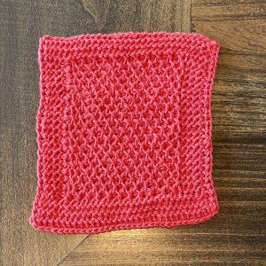 Tunisian crochet mini course by Little Monkeys Designs - Tunisian Lattice stitch spa cloth pattern