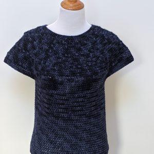 Zara's Sweater crochet pattern by Little Monkeys Designs - modern top down sweater crochet pattern