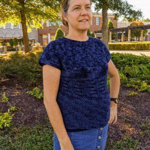 Zara's Sweater crochet pattern by Little Monkeys Designs - top down sweater crochet pattern