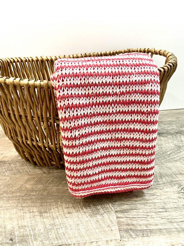 Full of Love Baby Blanket crochet Kit yarn and pattern by Little Monkeys Designs - Tunisian crochet pattern