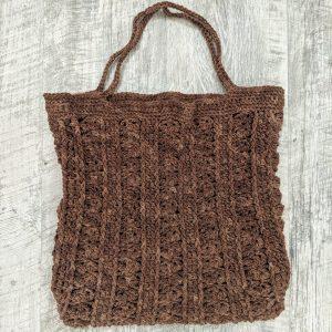 Marla Tote Bag crochet pattern by Little Monkeys Designs - eco friendly bag crochet pattern