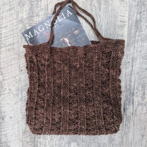 Marla Tote Bag crochet pattern by Little Monkeys Designs - book bag crochet pattern