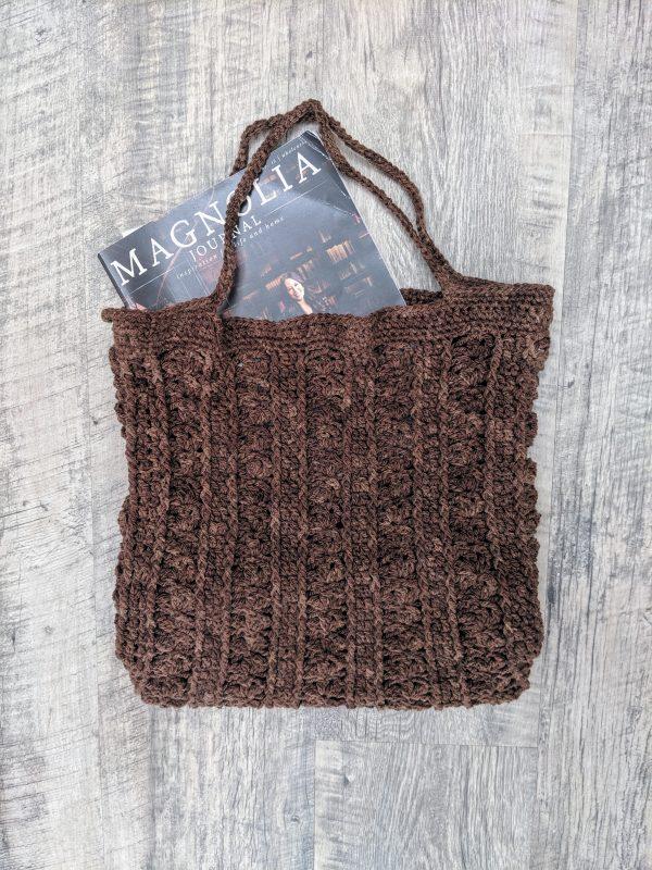 Marla Tote Bag crochet pattern by Little Monkeys Designs - book bag crochet pattern