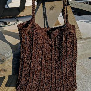 Marla Tote Bag crochet pattern by Little Monkeys Designs - farmers market bag or tote crochet pattern