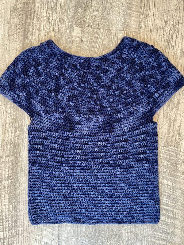 Zaras sweater crochet pattern by Little Monkeys Designs - top down sweater