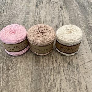 Organic cotton yarn by Little Monkeys Designs