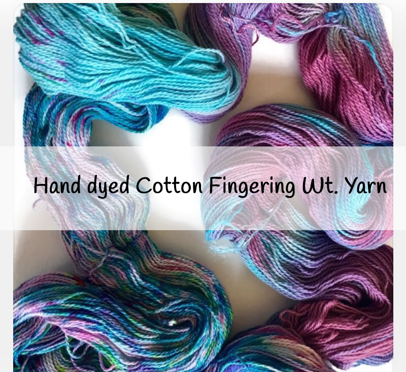 Cotton yarns from Crafty Housewife Yarns
