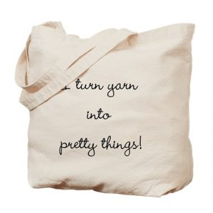 I turn yarn into pretty things project bag by Little Monkeys Designs