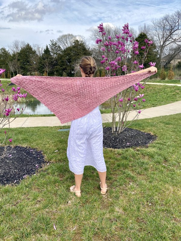 Pink Daisies Shawl crochet pattern by Little Monkeys Design - asymmetrical shawl crochet pattern