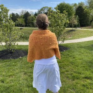 Honeybee Shawl crochet pattern by Little Monkeys Designs - Tunisian crochet shawl pattern