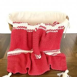 Candy Cane Baby Blanket crochet pattern by Little Monkeys Designs