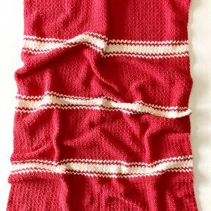 Candy Cane Baby Blanket crochet pattern by Little Monkeys Designs - Christmas blanket pattern