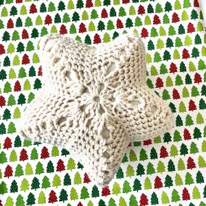 Star Throw Pillow crochet pattern by Little Monkeys Designs - star pillow crochet pattern