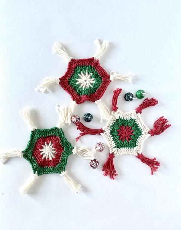 Scandinavian Holiday Coasters crochet pattern by Little Monkeys Designs