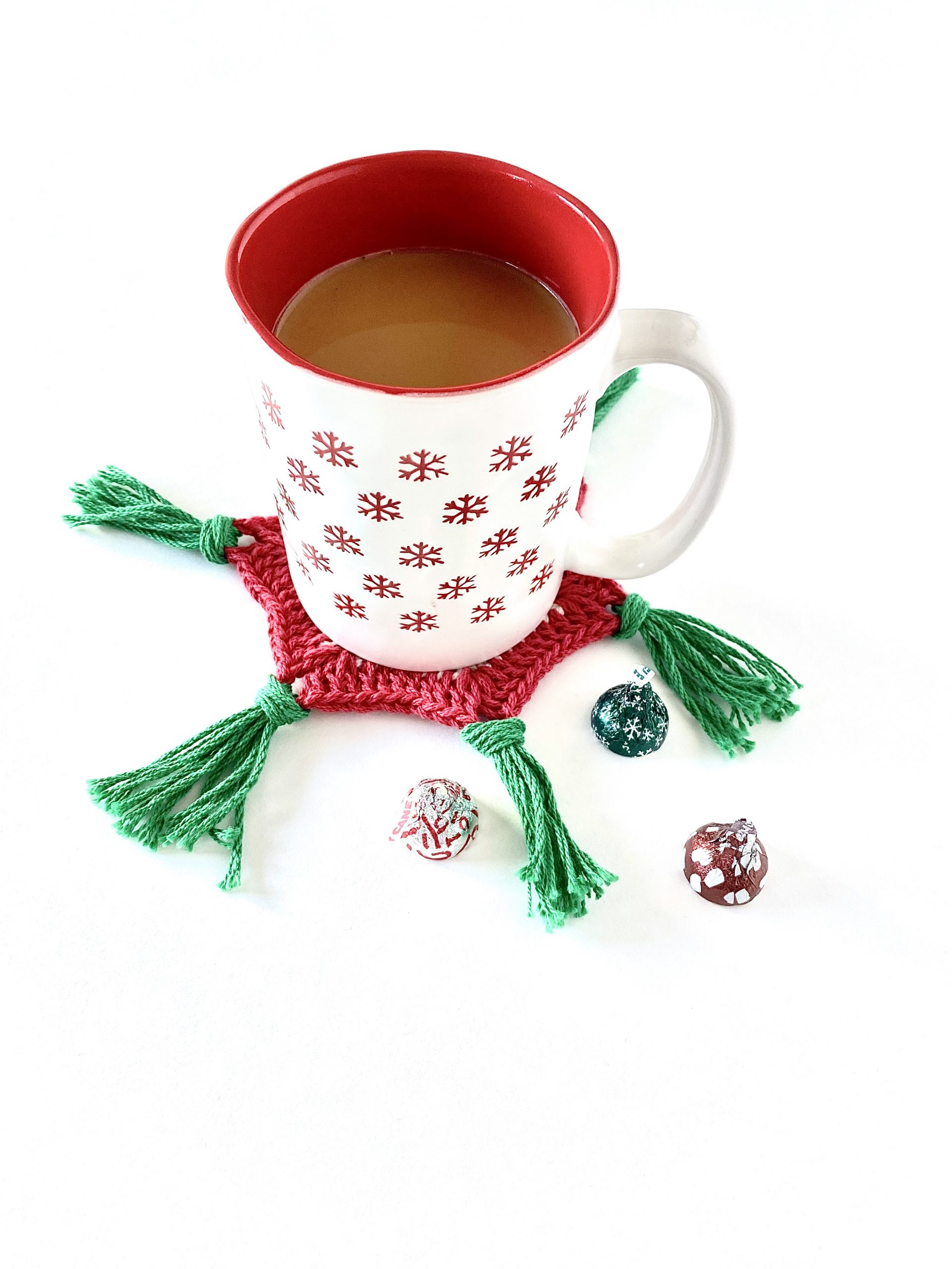 Scandinavian Holiday Coasters crochet pattern by Little Monkeys Designs