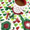 Scandinavian Holiday Coasters crochet pattern by Little Monkeys Designs - coffee coasters