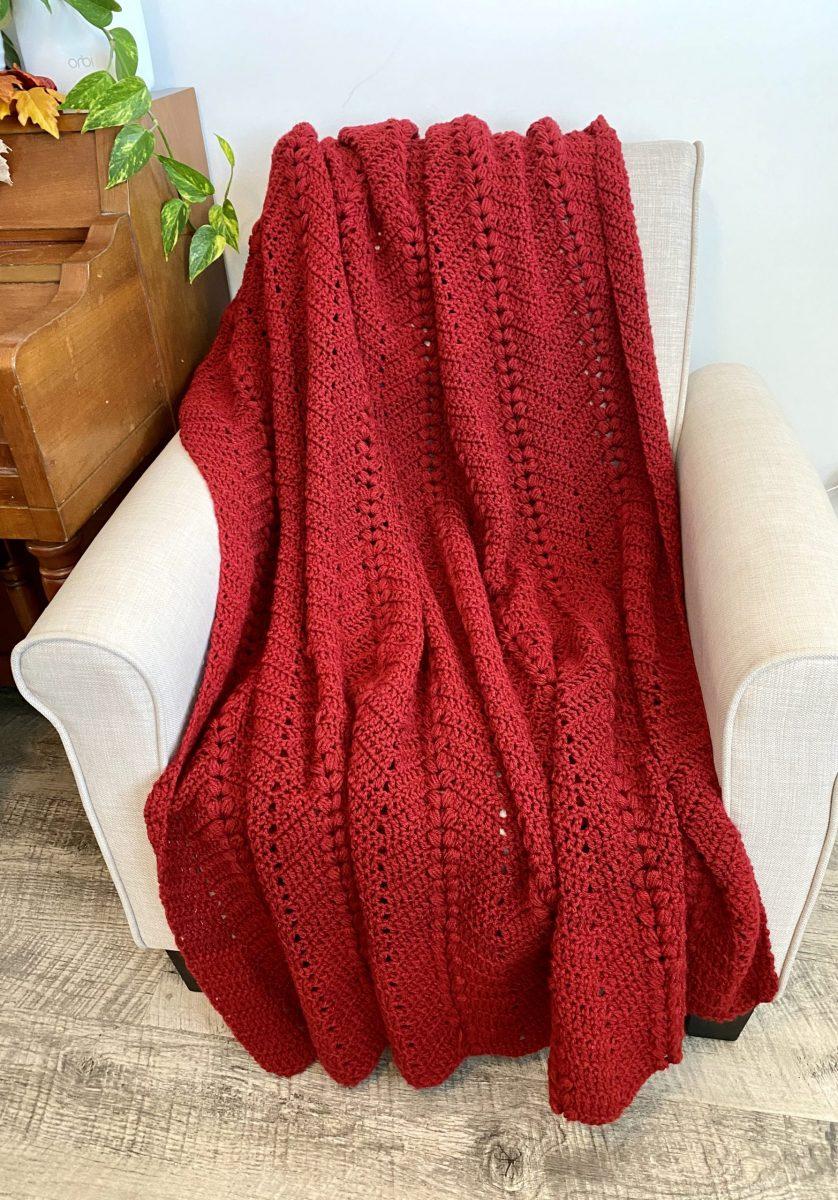 Sweetheart Throw Crochet Pattern by Little Monkeys Designs