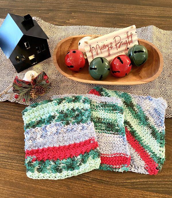 Holiday Dishcloth crochet pattern by Little Monkeys Designs - holiday kitchen decorations