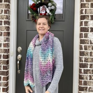 Winter Wonderland Scarf crochet pattern by Little Monkeys Designs - granny square stitch scarf
