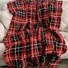Flannel Blanket crochet pattern by Little Monkeys Designs - red and black flannel blanket pattern