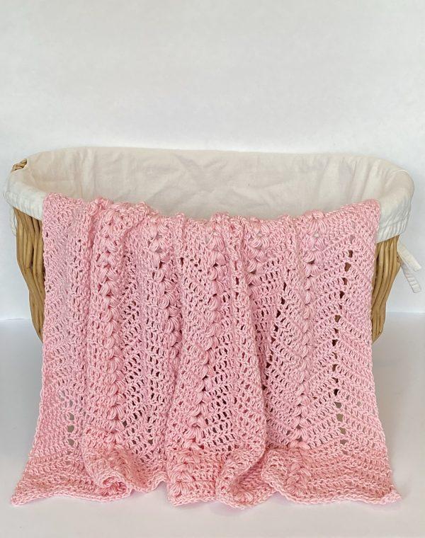 Sweetheart Baby Blanket Crochet Pattern by Little Monkeys Designs - light weight baby blanket