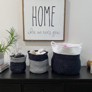 Modern Baskets crochet pattern by Little Monkeys Designs