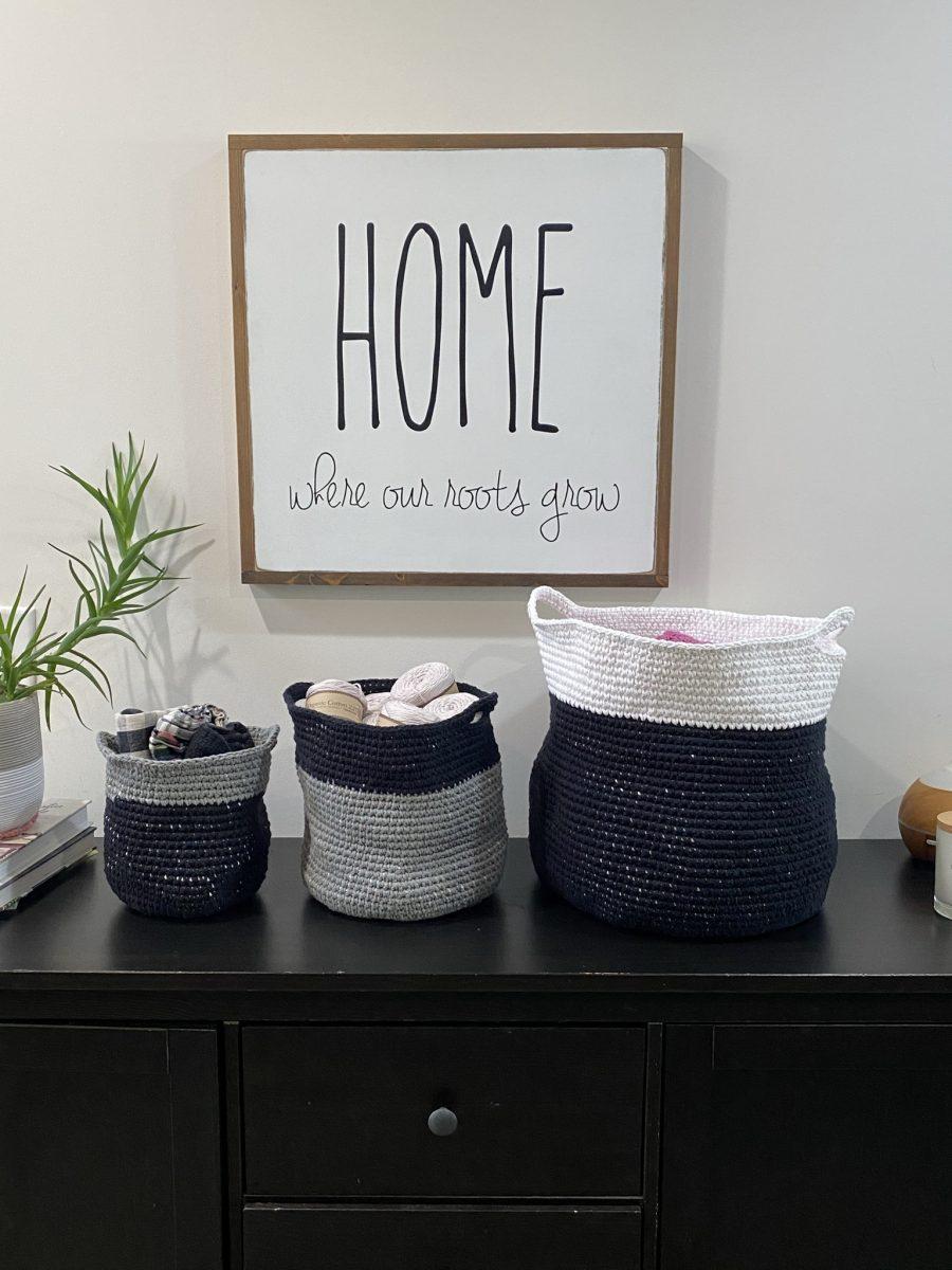 Modern Baskets crochet pattern by Little Monkeys Designs