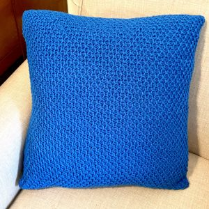 Farmhouse Throw Pillow crochet pattern by Little Monkeys Designs