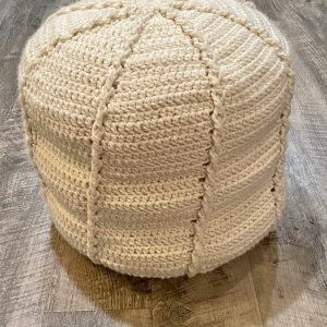 Twisted Cable Pouf crochet pattern by Little Monkeys Designs