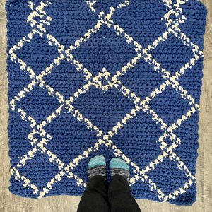 Scandinavian Rug crochet pattern by Little Monkeys Designs