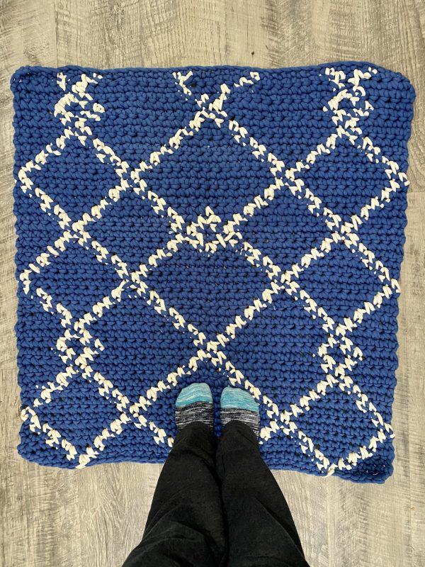 Scandinavian Rug crochet pattern by Little Monkeys Designs